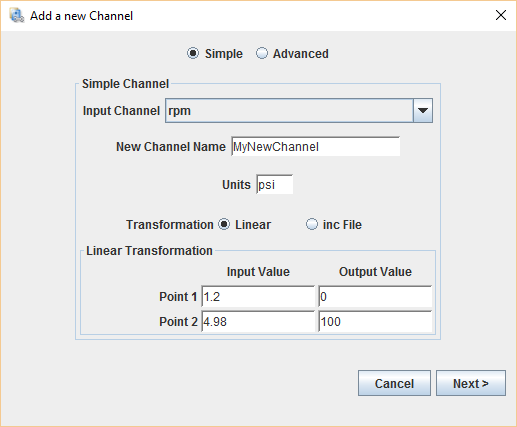 AddChannelWizard Simple
